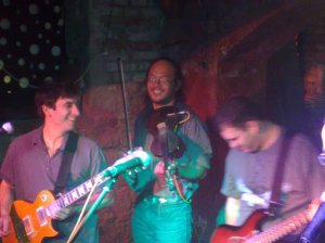 Howard Chu playing with the Ubuntu All-Stars